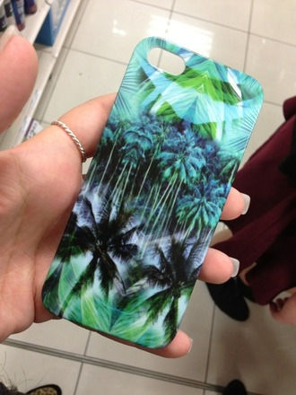 jewels phone iphone case phone cover tropical tumb palm tree surf palms blue green sun iphone 4 case summer bag iphone iphone 5 case palm tree print iphone cover happy nice palm tree