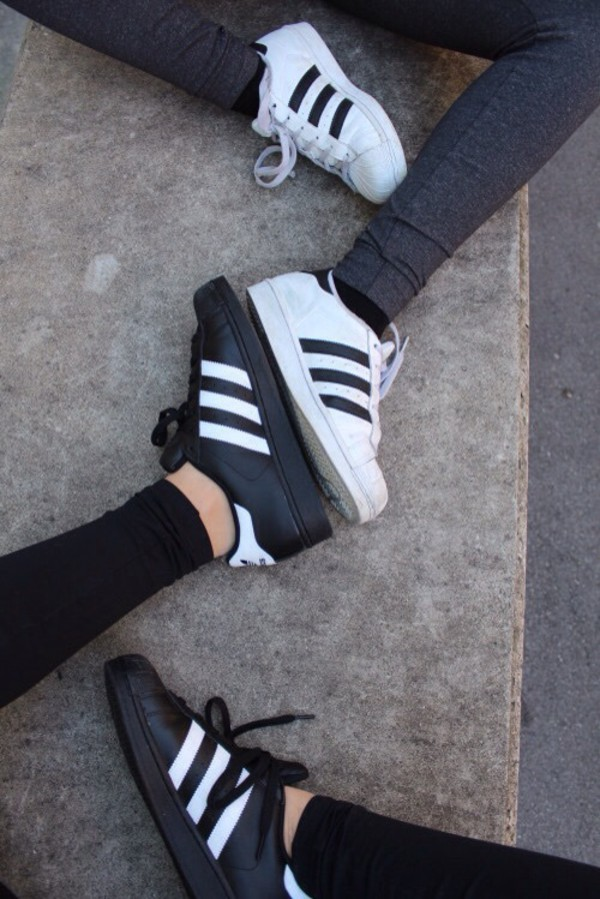 863ee4999bc2 shoes matching set black white adidas superstars adidas white sneakers adidas  black sneakers black sneakers adidas.