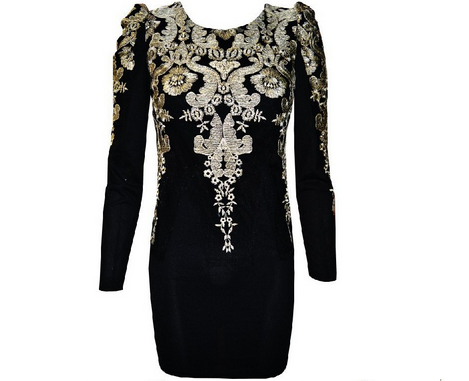 Embroidered Puff Dress