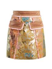 skirt,mini skirt,mini,gold,floral