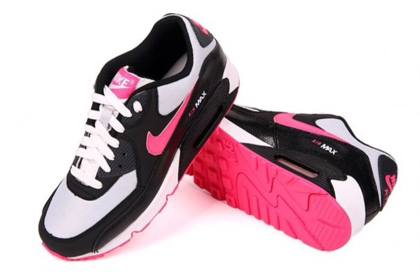 Air Max Shoes Black And Pink
