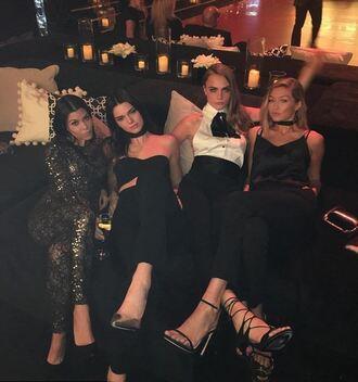 blouse top pants jumpsuit sandals cara delevingne kourtney kardashian instagram gigi hadid kendall jenner