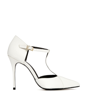 River Island | River Island White T Bar Court Shoes at ASOS