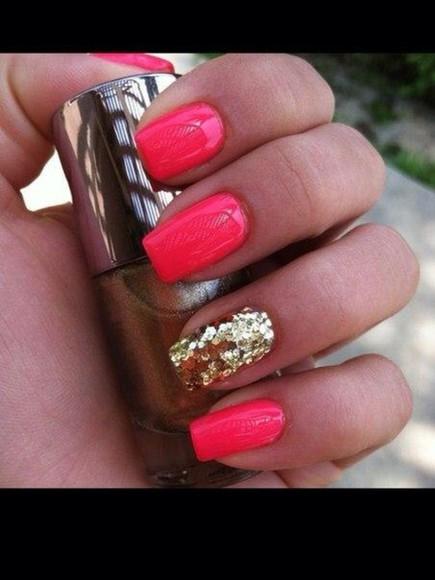 sparkling nail polish shiny