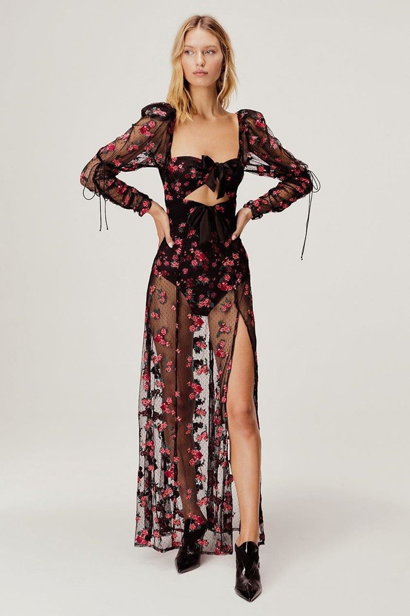 Blondie Embroidered Maxi Dress