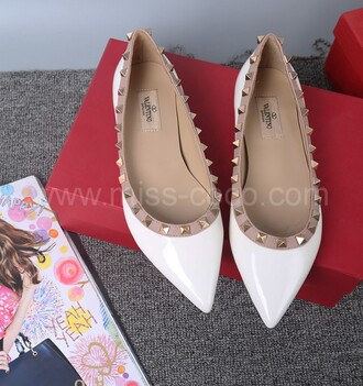 shoes white flats valentino shoes valentino valentino shoes studded