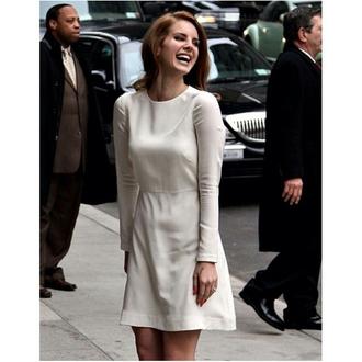 dress white dress lana del rey streetstyle