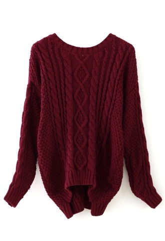 sweater burgundy cable knit burgundy sweater