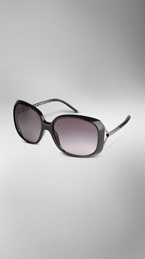 Oversize Rounded Frame Sunglasses | Burberry