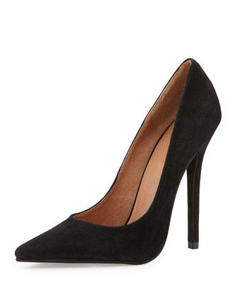 Jeffrey Campbell Darling Suede Pump, Black - Neiman Marcus
