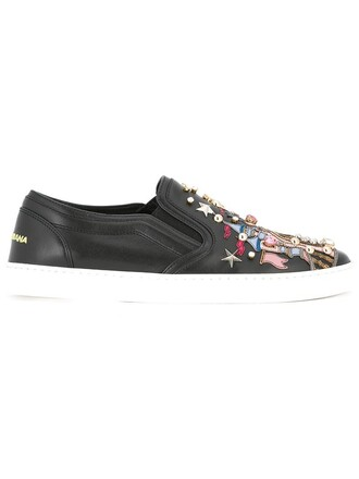 women castle sneakers leather black shoes