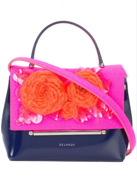 DELPOZO mini women bag leather purple pink