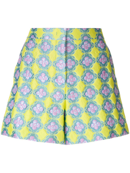 Emilio Pucci shorts women jacquard blue silk