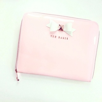 bag ted baker clutch pink gold bow bows pink clutch gold studs pink bow office supplies