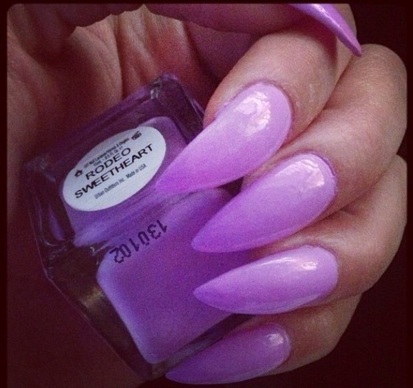 nail polish lilac stiletto nails pastel color nails fashion my daily style