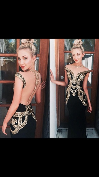 dress prom prom dress prom gown black dress black prom dress gold sequins gown
