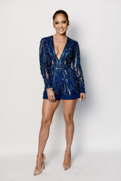 romper,sequins,jennifer lopez,pumps