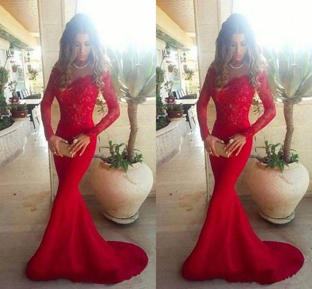 dress prom dress evening dress new year 2018 sexy party dresses mermaid prom dress lace dress