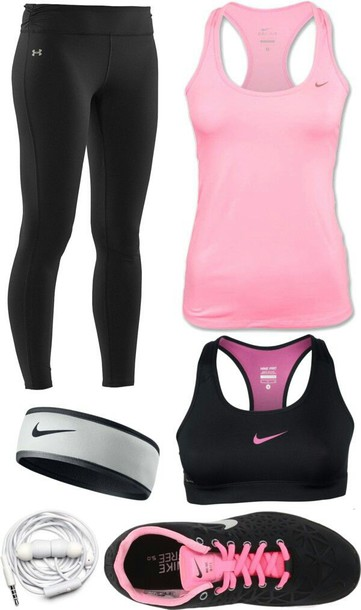 jumpsuit excersize pink pretty tights black tights