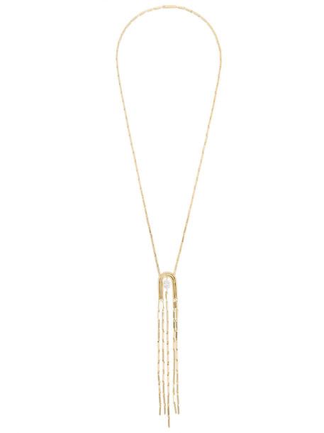 Eddie Borgo women necklace pendant grey metallic jewels