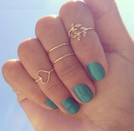 Love life midi ring set by mir