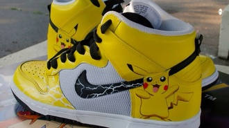 shoes pokemon nike running shoes yellow pikachu cartoon nike