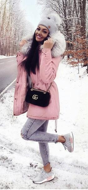 coat pink jacket