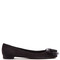 Marla bow-detail suede ballet flats