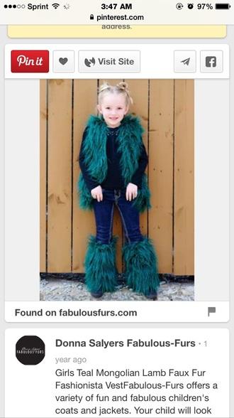 coat toddler faux fur vest faux fur boots leg warmers shoes