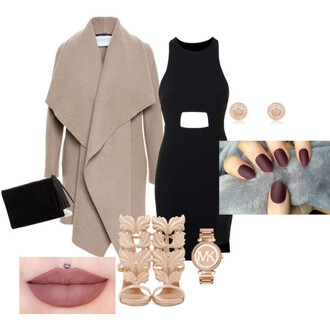 dress coat black dress heels michael kors watch
