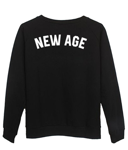 new age back sweatshirt. Black Bedroom Furniture Sets. Home Design Ideas