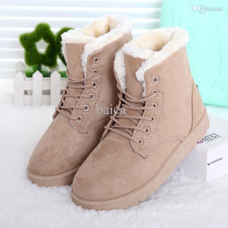 Winter Fur Flat Boots Online Shopping | Flat Winter Fur