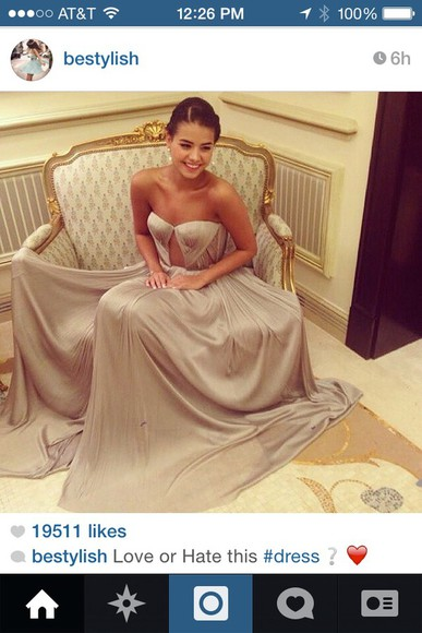 prom sweetheart neckline strapless grey cut-out long flowy gorgeous dress