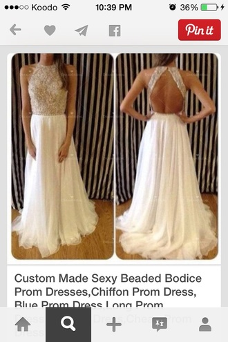 prom prom dress dress sparkly dress beige dress beige sparkle backless dress backless prom dress backless white dress