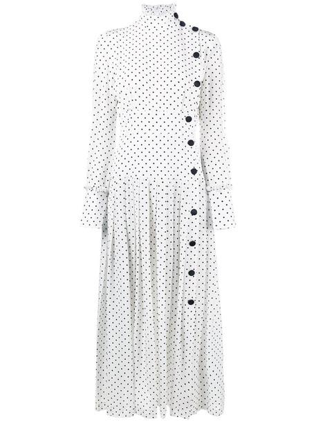 Alessandra Rich dress long women white silk