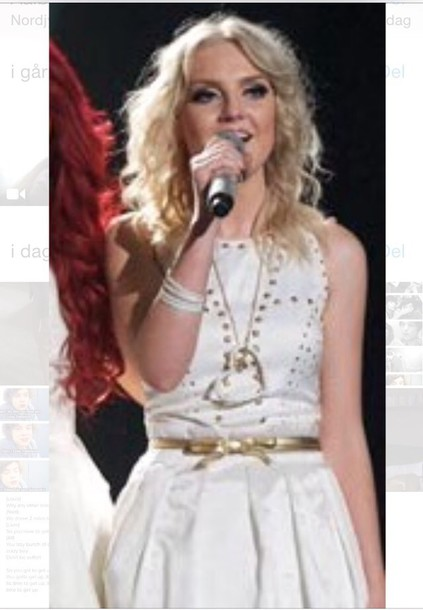 dress perrie edwards white dress
