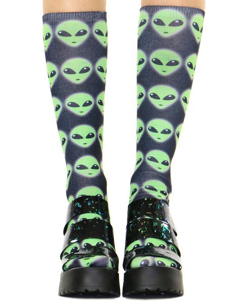 Alien knee high socks at shop jeen