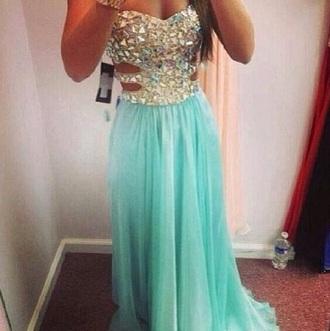 dress diamond turquoise dress