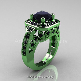 jewels green gold gold black diamond 2 carat black diamond wedding ring engagement ring classicengagementring luxury luxurious ring diamonds diamond ring