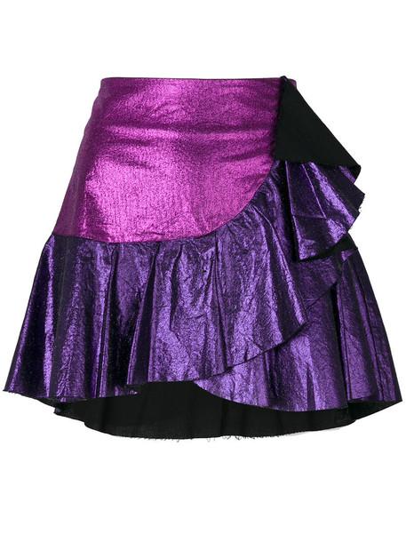 skirt women cotton purple pink