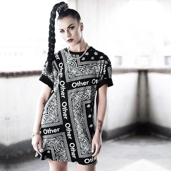 t-shirt bandana bandana tee model urban urban urban