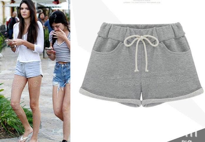 S XL new 2014 summer sport shorts women casual pant solid color bottom one piece for women beach ...