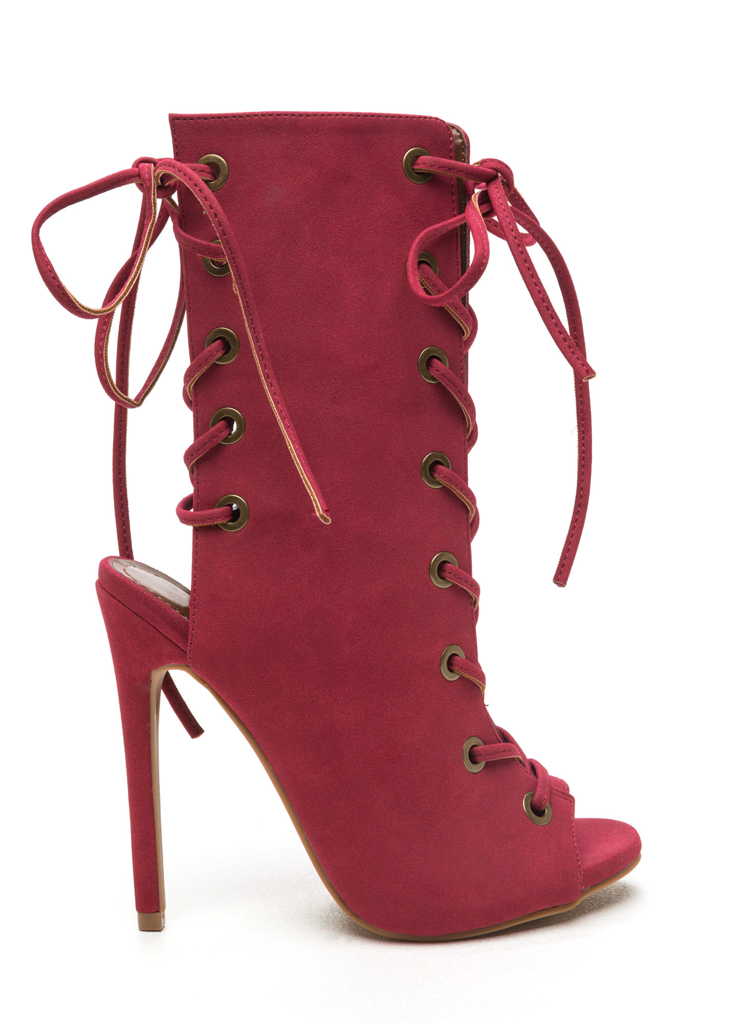Bootie Lace Up Heels