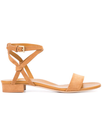 women sandals leather suede brown shoes