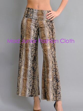brown pants casual pants workout pants gym pants yoga pants snake print snake