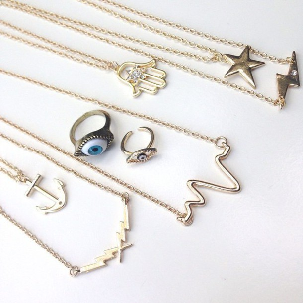 jewels charms choker necklace non-tarnish necklace eye hamsa hamsa necklace hamsa hand hamsa charm