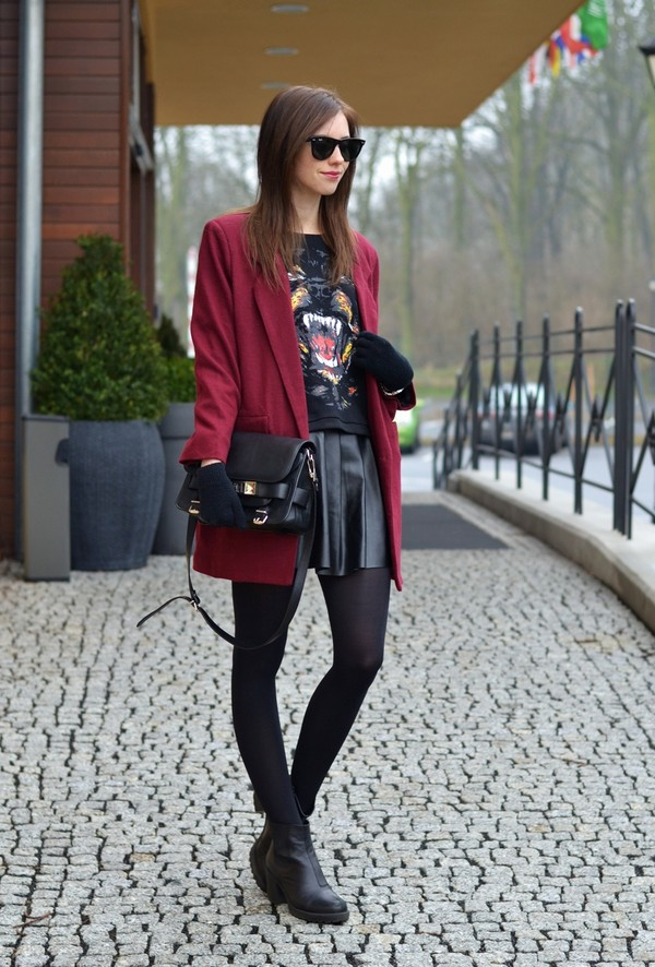 vogue haus sweater skirt coat shoes bag jewels sunglasses