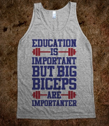 Big Biceps Are Importanter - Fitness, Fun, and Sports - Skreened T-shirts, Organic Shirts, Hoodies, Kids Tees, Baby One-Pieces and Tote Bags Custom T-Shirts, Organic Shirts, Hoodies, Novelty Gifts, Kids Apparel, Baby One-Pieces | Skreened - Ethical Custom Apparel