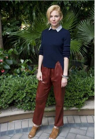 pants sienna miller fall outfits sweater