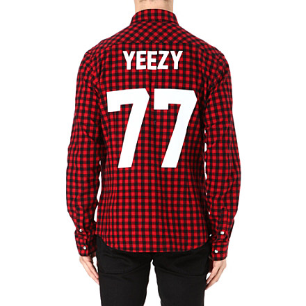 LES (ART)ISTS Yeezy 77 flannel check shirt - Selfridges - Shufflehub
